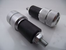 Handlebar ends silver knurled bar ends streetfighter trike